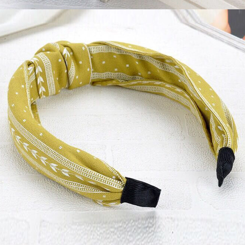 Women Elegant No Slip Knotted Head Hairbands Hair Holder Girls Cloth Elastic Hairband Hair Accessories Gifts Hair Hoop 903