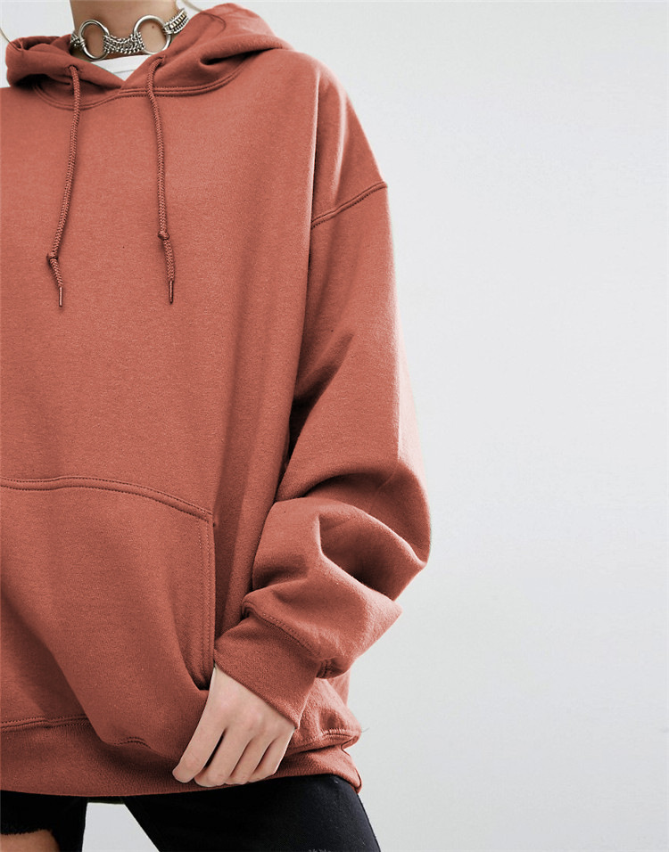 GUMNHU Women Fleece Hoodie Sweatshirts Winter Japanese Fashion 19 Oversize Ladies Pullovers Warm Pocket Hooded Jacket 8