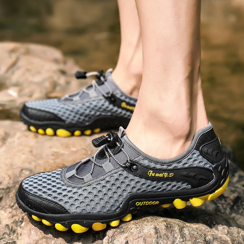 Aqua Shoes Ultra-light Quick-drying Beach Water River Walking 2019 Summer Men Mesh Breathable Flotillas Outdoor Hiking (37)