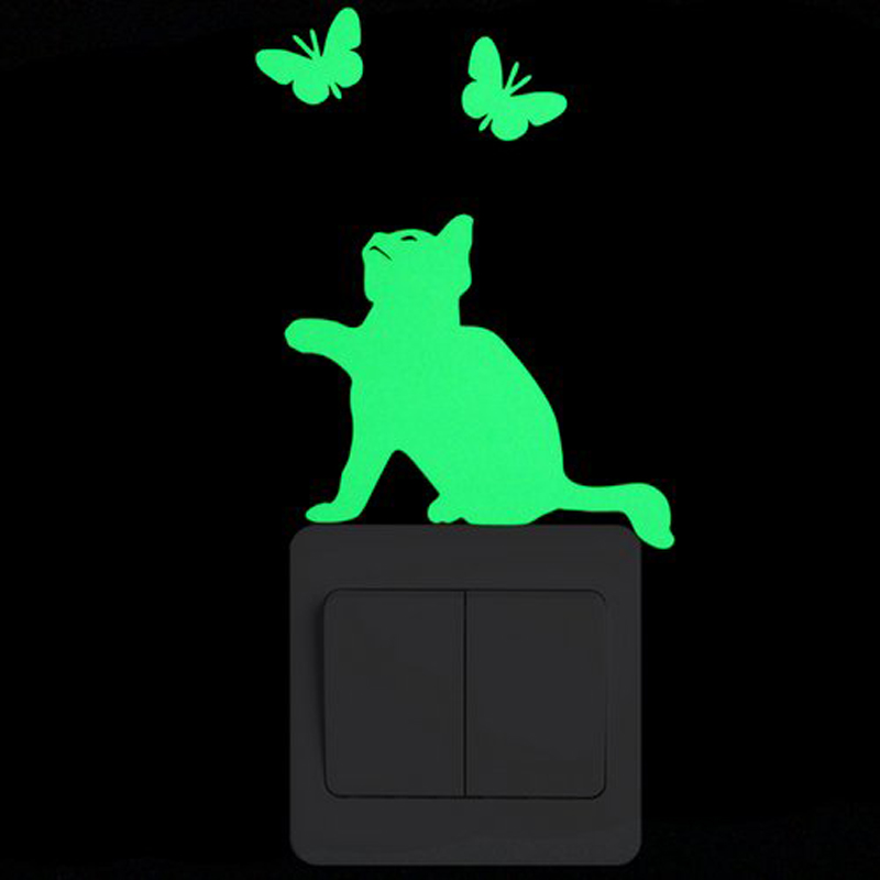 3D-wall-stickers-for-kids-rooms-cat-Luminous-Sticker-glow-in-the-dark-stars-fairy-wall (2)