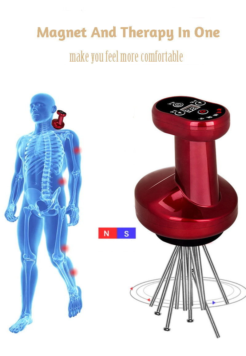 Human - Electric Cupping Massage Guasha Suction Scraping Massager Apparatus Device Meridian Body Slim Negative Pressure Physiotherapy
