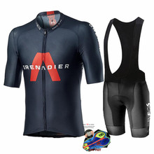 Cycling Jersey Set Man Short Sleeve Team Clothing Ineos Grenadier 2020 Competizione Suit Training Breathable Light Race Uniform