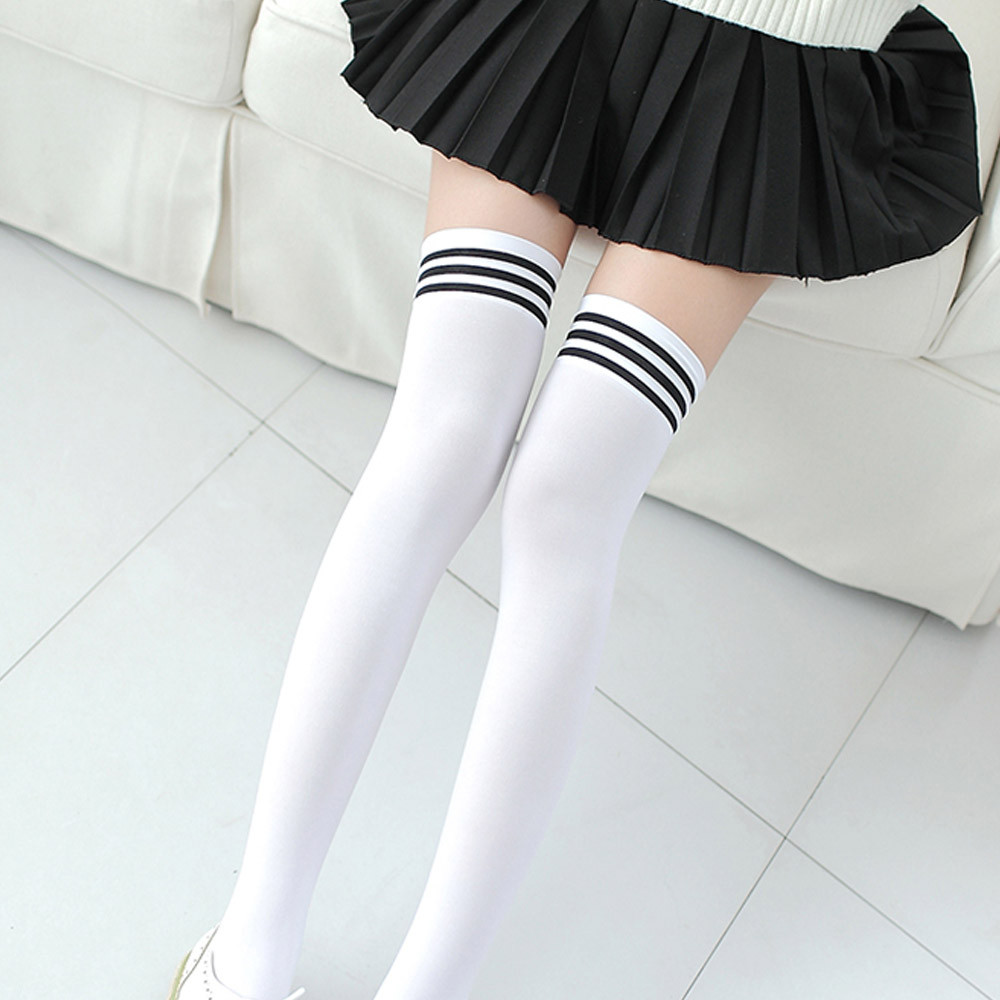 1 Pair Fashion Thigh High Over Knee High Socks Girls Womens New