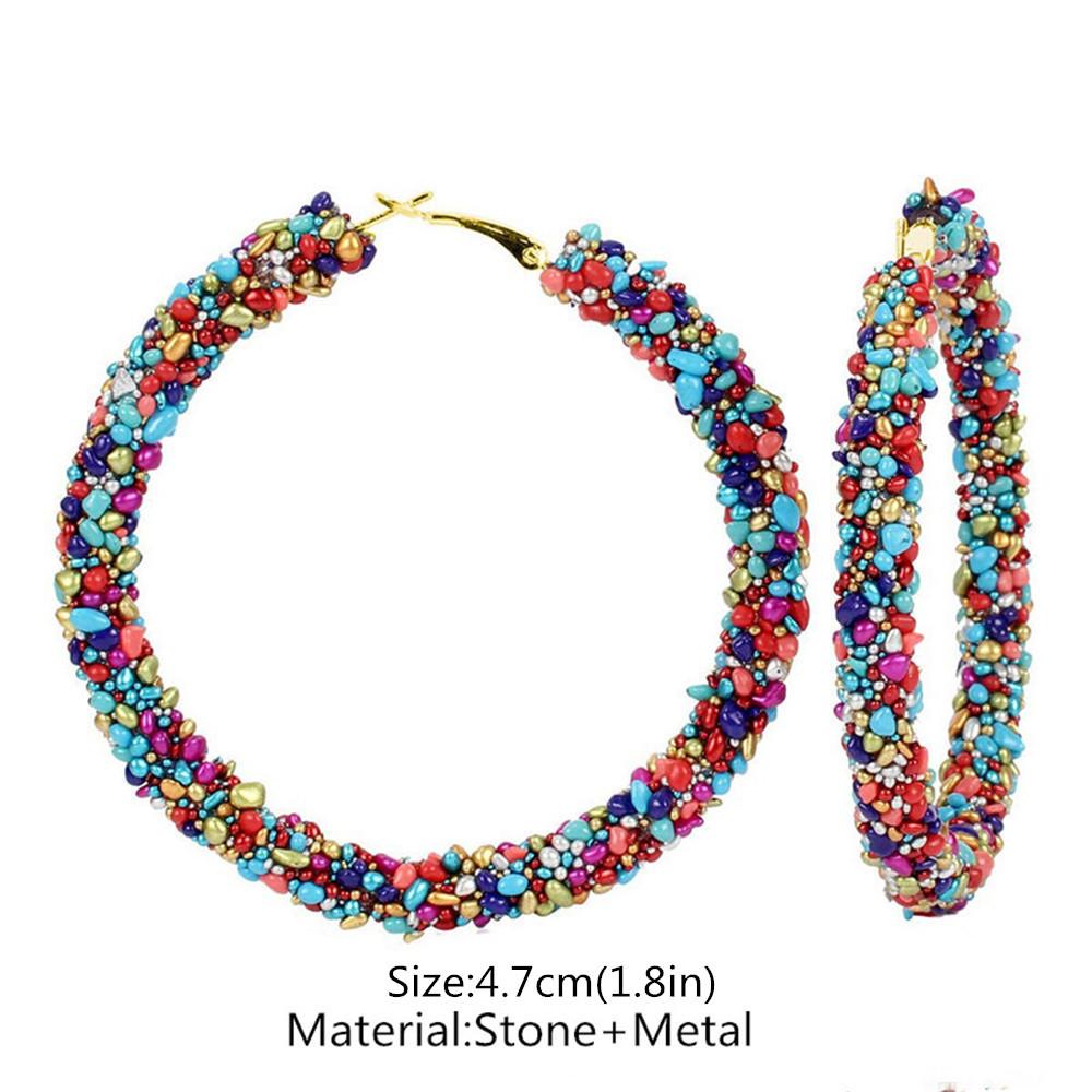 Boucle d'oreille créole Rasta multi-colors | Rasta Lion