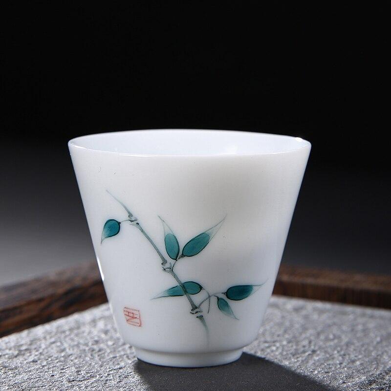 Taza T/é Chino Porcelana Hueso 6 Tazas De T/é De China En Porcelana Delgada No De Cer/ámica Peque/ña Taza 100 ml
