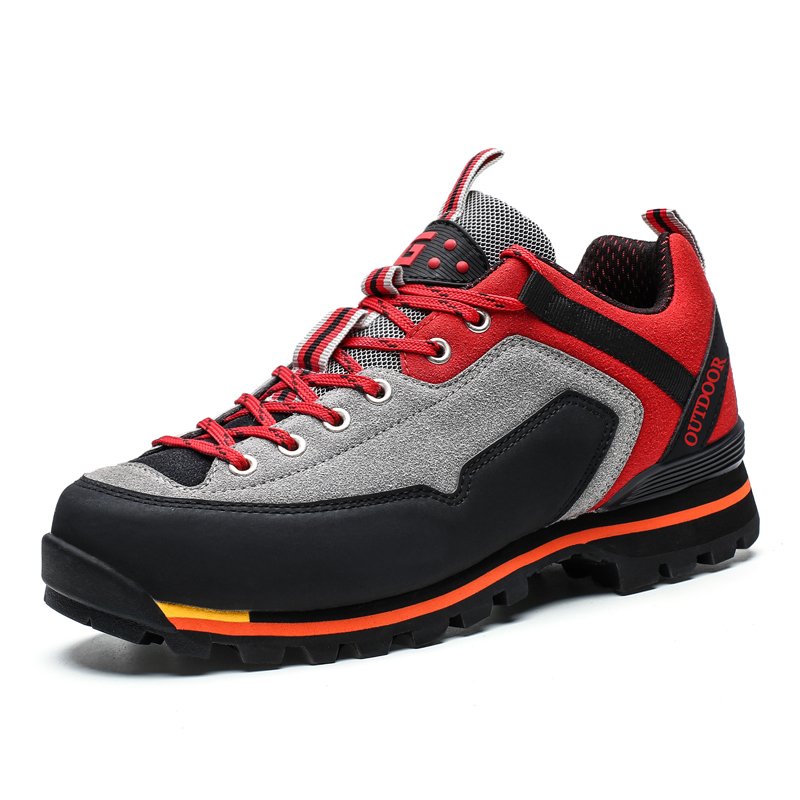 Sneakers Men Hiking-Shoes Trekking Mountain-Climbing Hunting Waterproof Sport title=