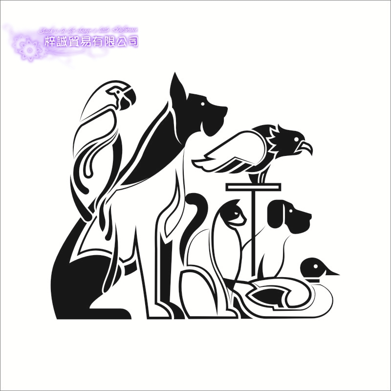 DCTAL Grooming Salon Vinyl Wall Decal Pet Salon Paw Quote Grooming Salon Mural Art Wall Sticker Pet Shop Decorative Decoration
