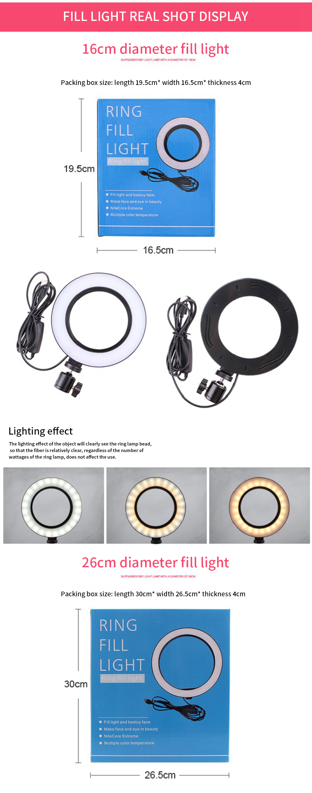 SLM-max LED Floor Ring Fill Light Anchor Beauty Live Mobile Phone Bracket Photography Shooting Professional Makeup-003,A