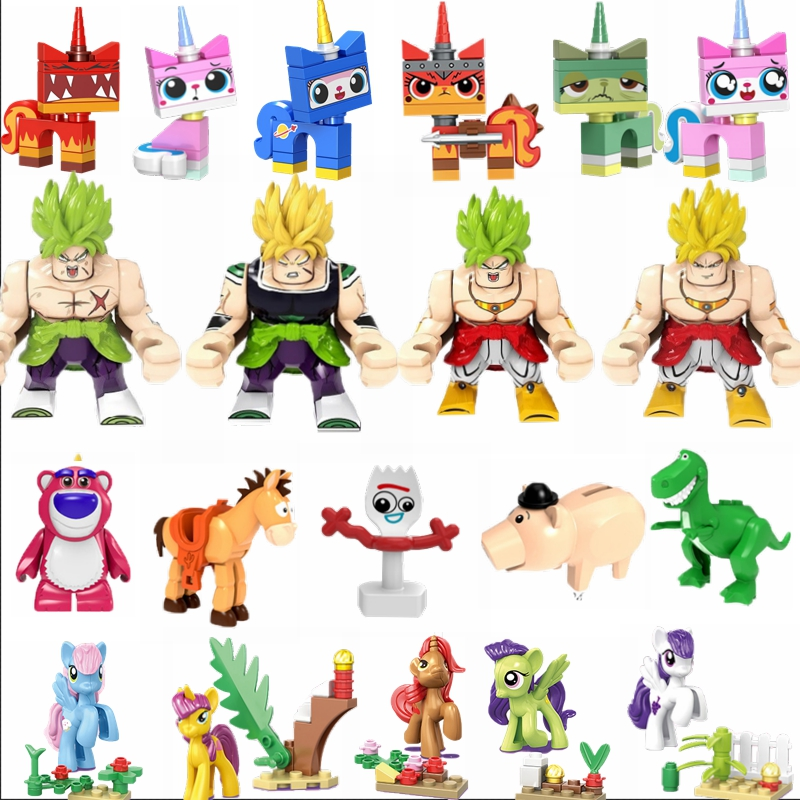 Legoing Kids Toys Tv Dragon Ball Pony Anime Figures Children Toy Cat Electric mouse Movie Gifts Toy Story 4 Set Legoings Animals