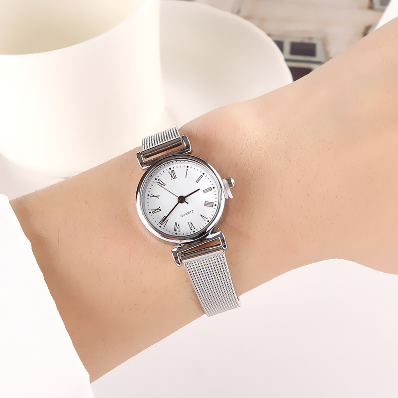 Fashion Quartz Watch For Women Luxury Female Watches Clock Wrist Watch White Stainless Steel Band Classic Watches Daily Gifts
