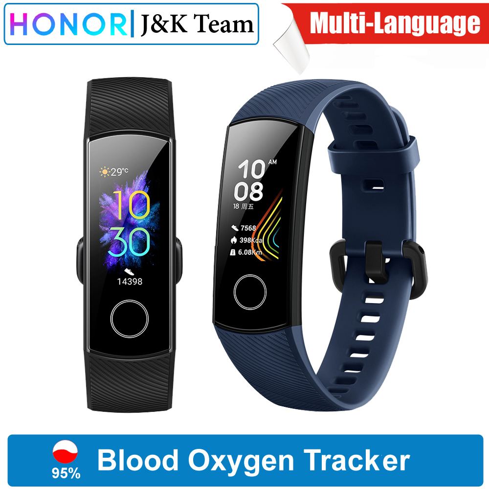 Honor Sleep-Tracker Smartwatch Amoled Blood-Oxygen Heart-Rage Ftness Global-Version Band-5 title=