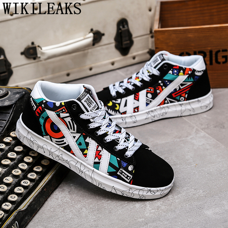 High Top Sneakers Hip Hop Shoes Casual Shoes Men Luxury Brand Designer Shoes Men High Quality Tenis Masculino Chaussure Homme