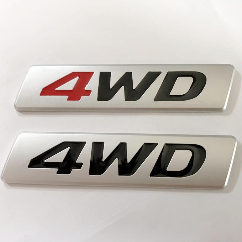 2pcs Metal DAKAR Rally 4X4 Car Auto Side Emblem Decal Sticker Fender Badge SUV