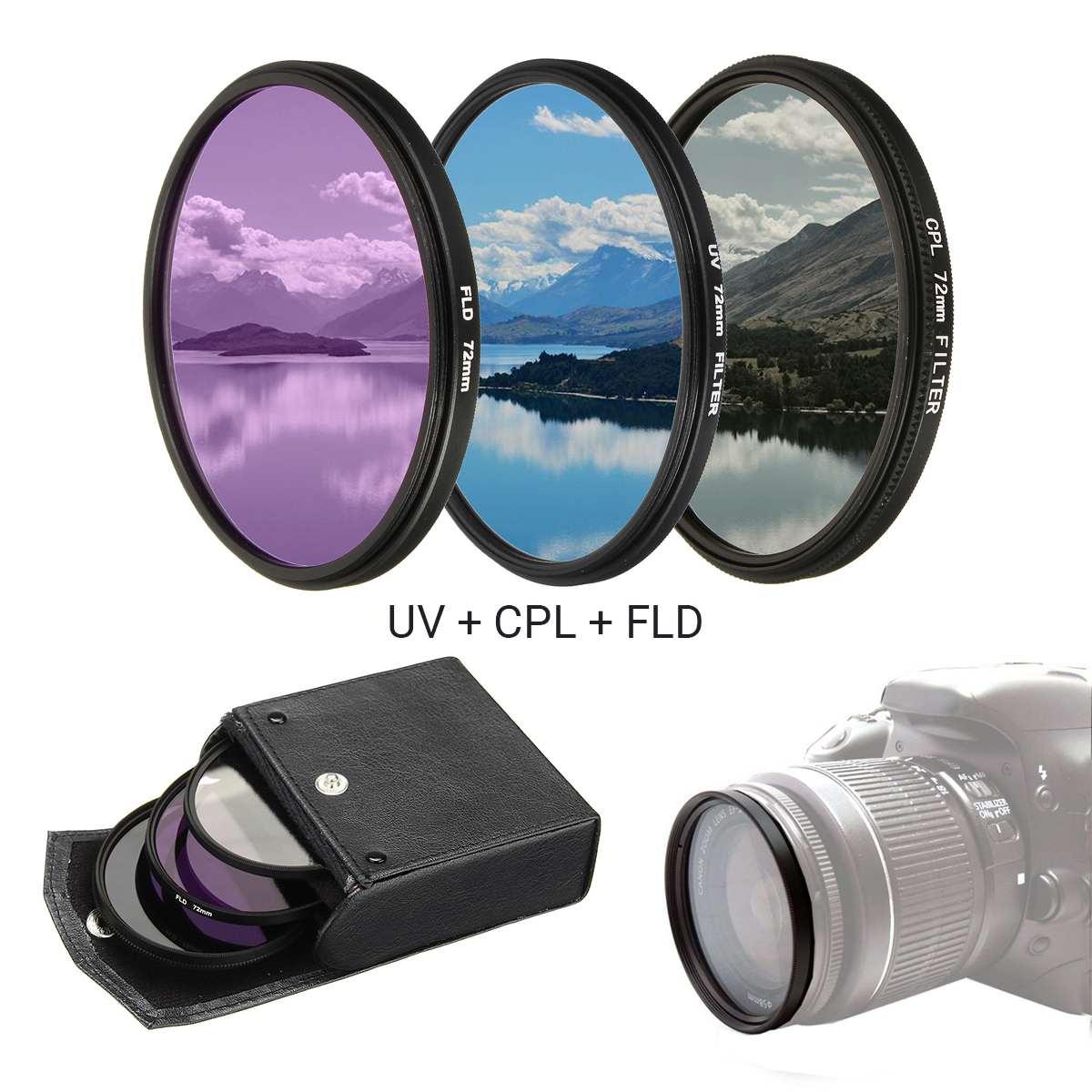 Kenko por Hoya 77mm UV MC /& circular Kit Filtro polarizante Delgada Inteligente Doble-Nuevo