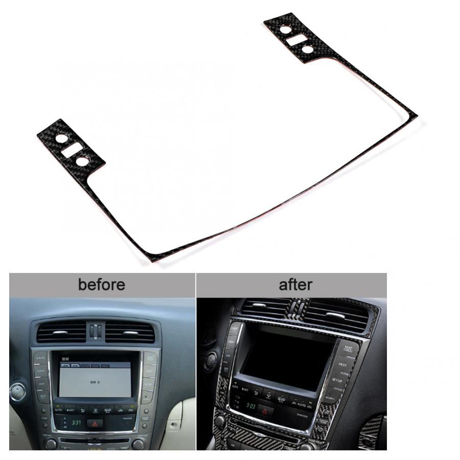 Gorgeri Navigation control panel trim,Carbon Fiber Interior Decoration Navigation Control Panel Trim Fit for Lexus IS250 300 350C 2006-2012