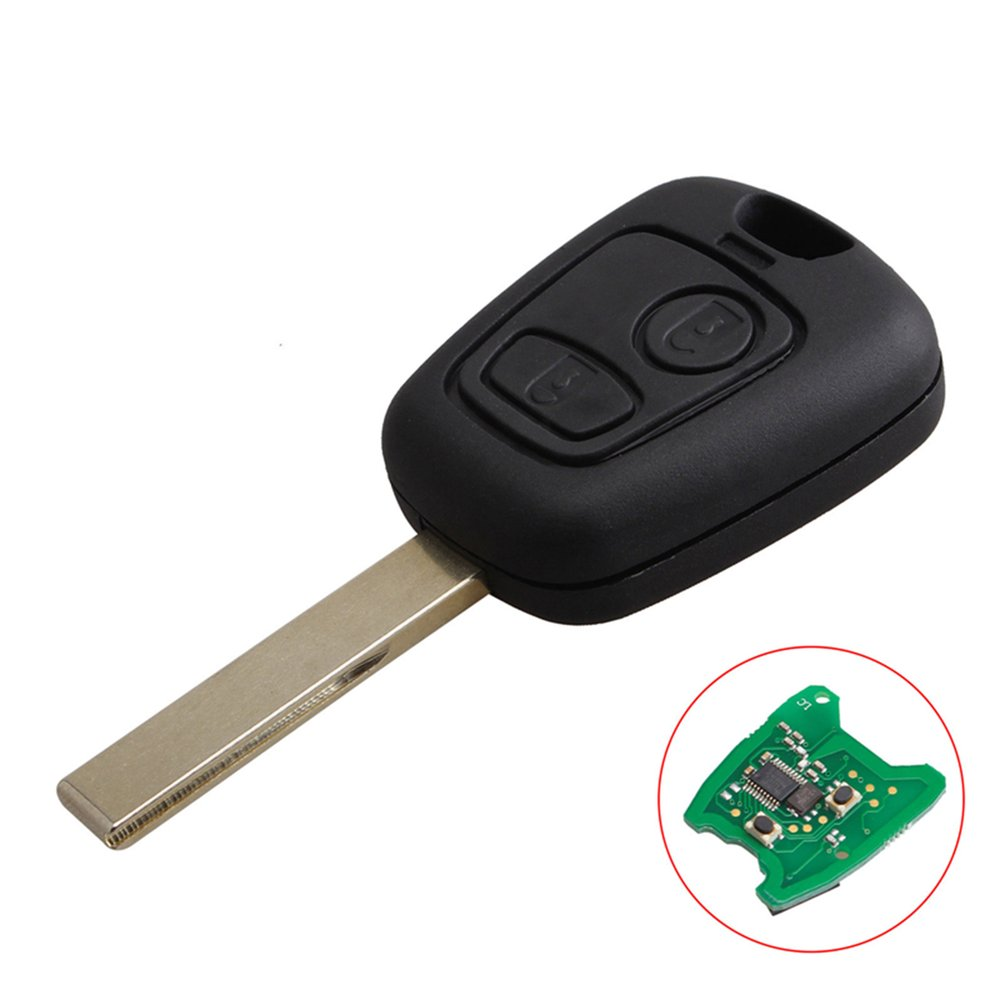 Car-Key-Slotted Pcf7961-Transponder-Chip Peugeot 307 Remote-Control 2-Buttons with  title=