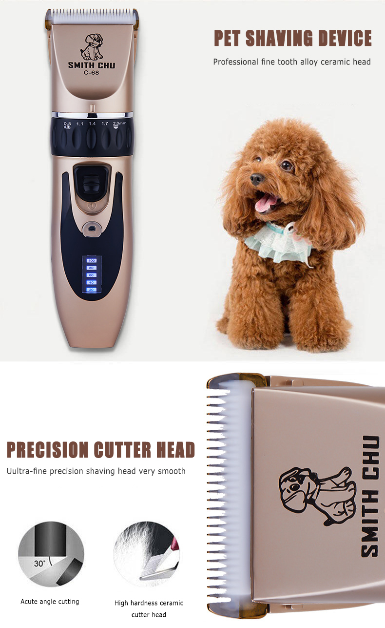 Pet - Professional Pet Grooming Clippers Deluxe Dog Grooming Set Cordless Electric Dog Cat Grooming Trimming-Kit