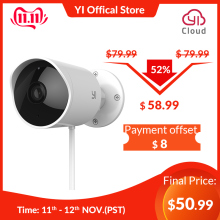YI Surveillance-System Cloud Cam Security-Camera Night-Vision White Waterproof Ip 1080p