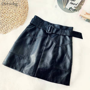 Skirt Faux-Leather F...