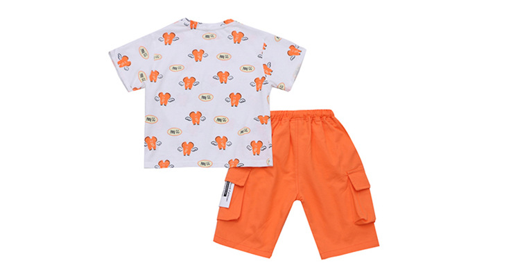 Children/'s Clothing Boy Summer Suit 2020 New Children Short-sleeved Kid Clothes T-shirt and Short Pant Summer Two-piece Handsome