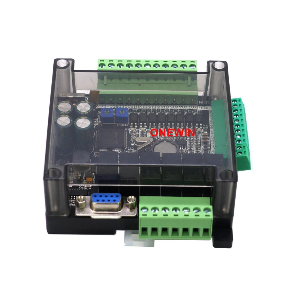 FX3U-14MR FX3U-14MT PLC industrial control board 8 Input 6 Output 6AD 2DA and RS485 RTC Compatible with FX1N and FX2N