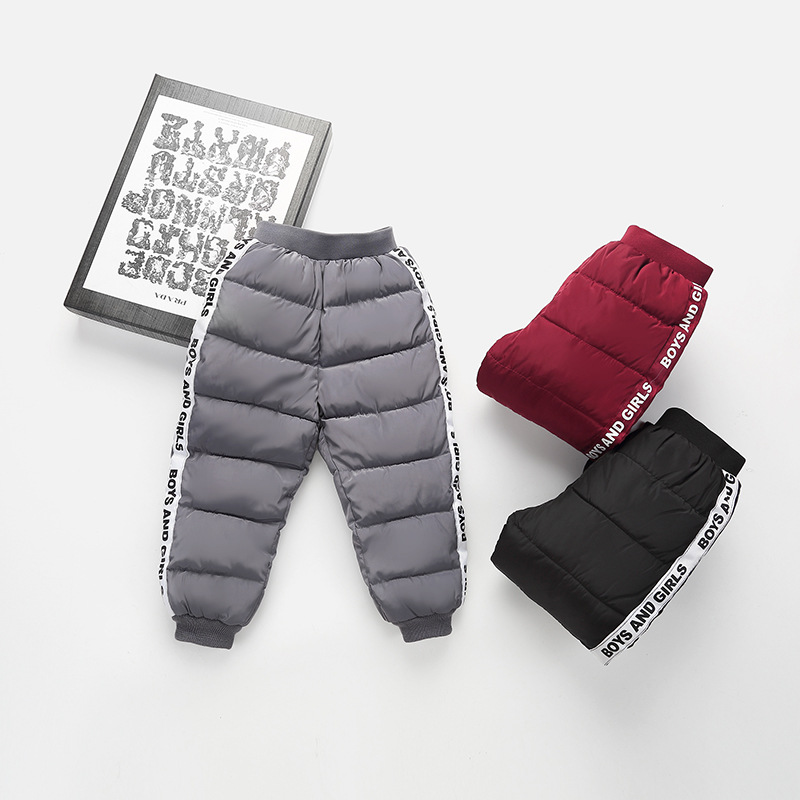 New Winter Children/'s Clothing Kids Down Pants Baby Boys and Girls Casual Sport Pant Children Cotton Warm Trousers Coat 4 color
