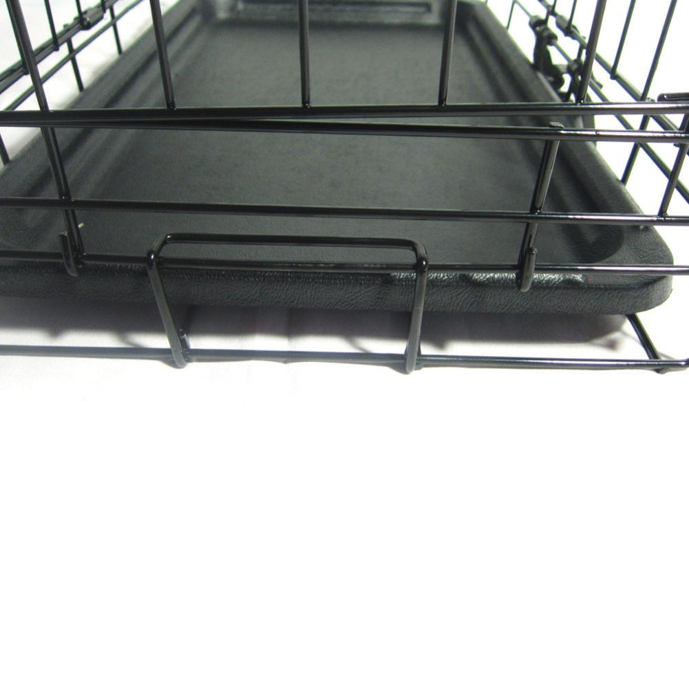 Roof Rack - 20inch Black Steel Dog Crate Pet Kennel Wire Metal Cage