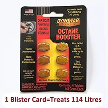 Card Octane Booster Petrol-Only Dyno-Tab Fuel for Maximizes Power-Increase Economy Eliminate