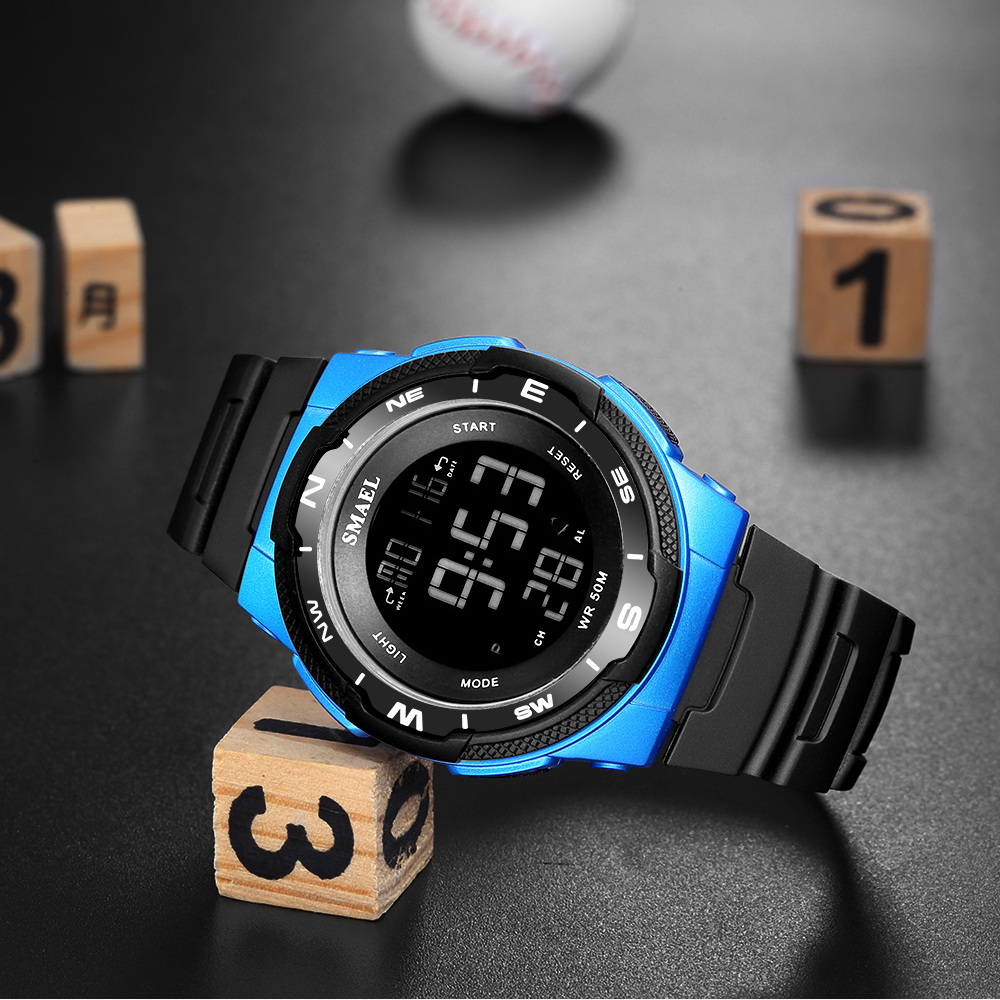 SMAEL Brand Men Outdoor Sports Watches Digital LED Military Watch Men's Electronics Fashion Casual Wristwatches Male Alarm Clock