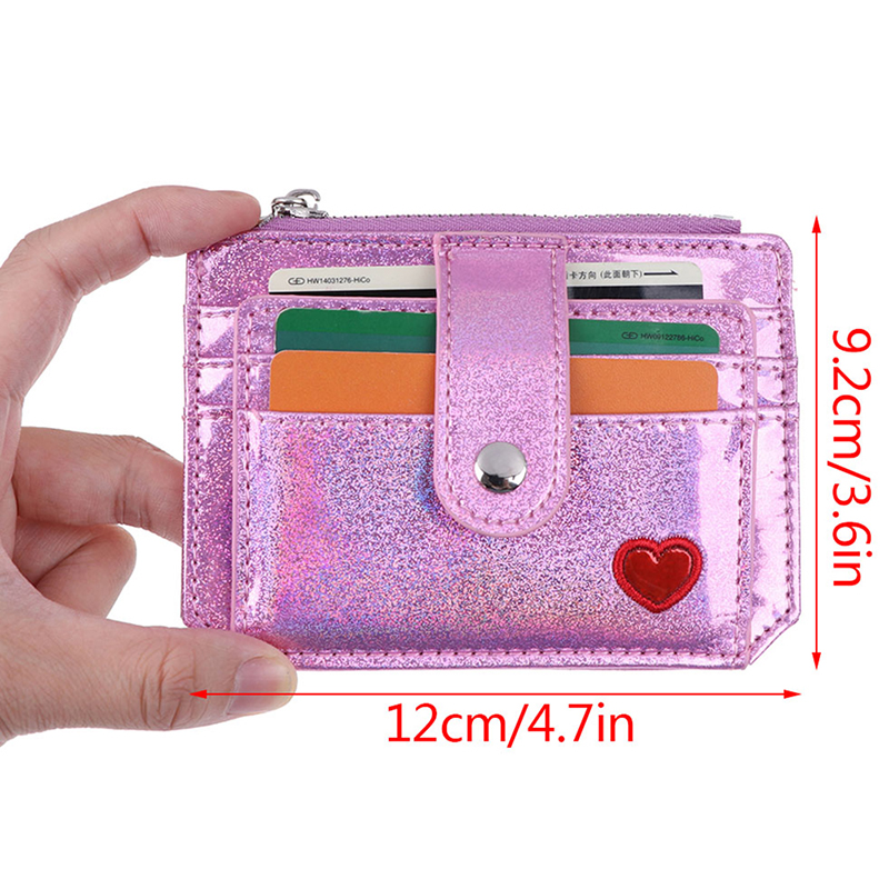 Women 1pcs Laser Shining Card Bag Driver