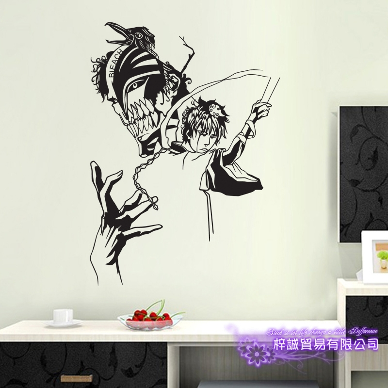 DCTAL BLEACH Ulquiorra Cifer Car Decal Wall Sticker Cartoon Fans Vinyl Wall Stickers Car Decal Decor Home Decorative