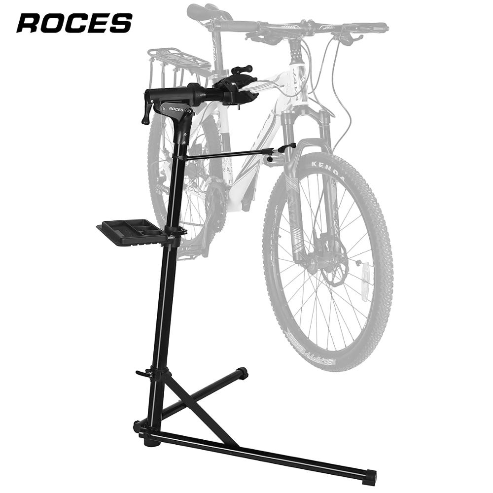 Bike Repair Stand Home Portable Bicycle Mechanics Workstand for MTB Road Bike Maintenance Repair Tool Aluminum Alloy Floor Stand