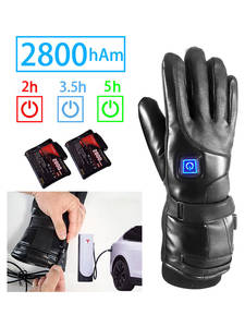 Heated Gloves Battery-Powered Skiing Electric Rechargeable Warm Winter Women Sport