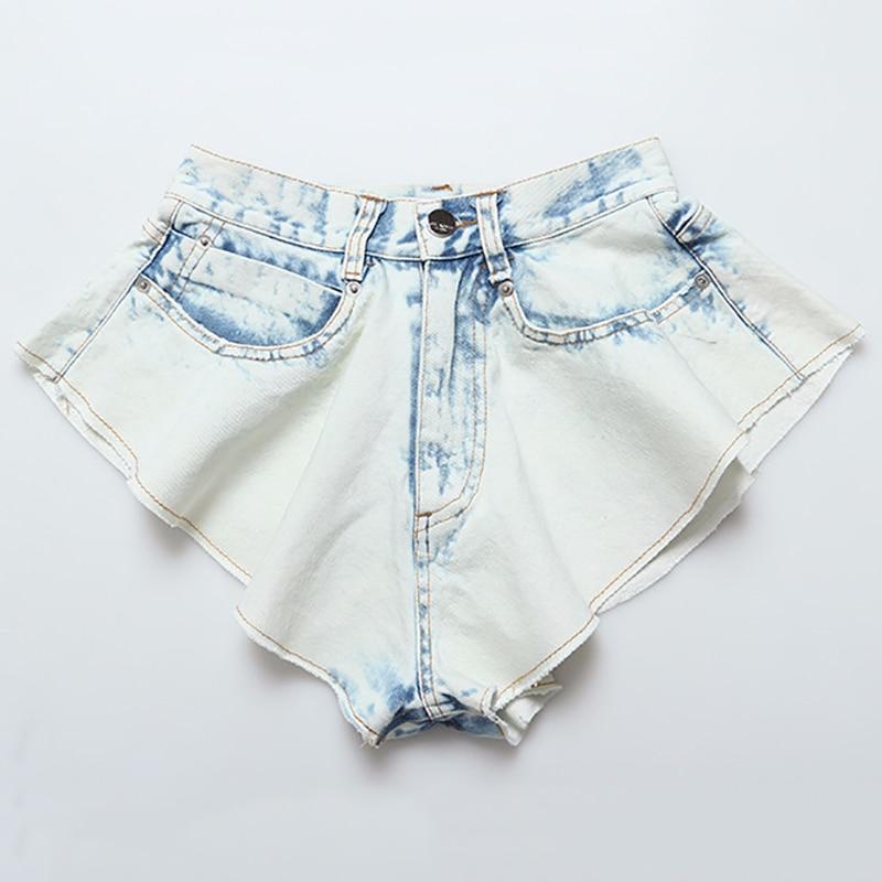 YUYOUG Nouveau Femmes d/ét/é Courtes Denim Jeans Femme Pockets Wash Denim Shorts Pantalon Jeans ❤Short Pour Femmes Taille Haute D/échir/é