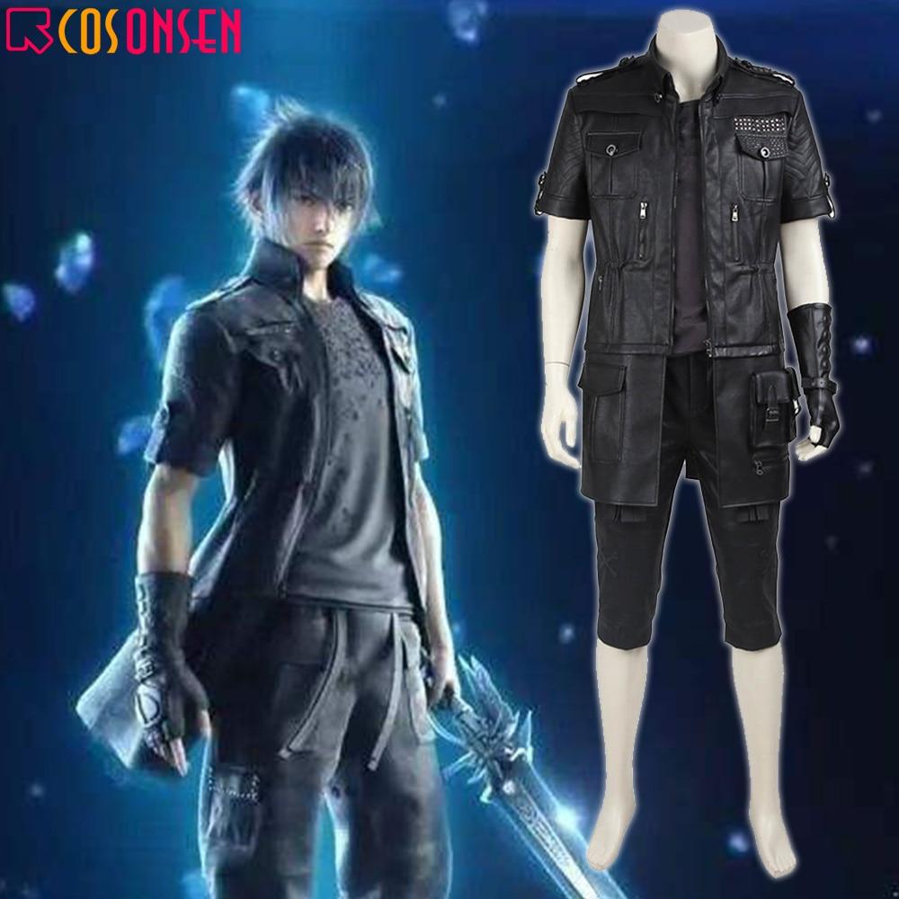 Final Fantasy XV FF15 Noctis Lucis Caelum Uniforms Cosplay Costumes Free Ship