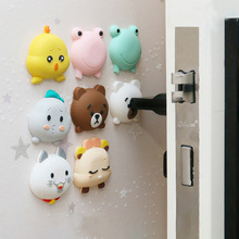 Protective-Pad Door-Stopper Fender-Lock Crash-Pad Cartoon Fashion Wall Rubber Shockproof