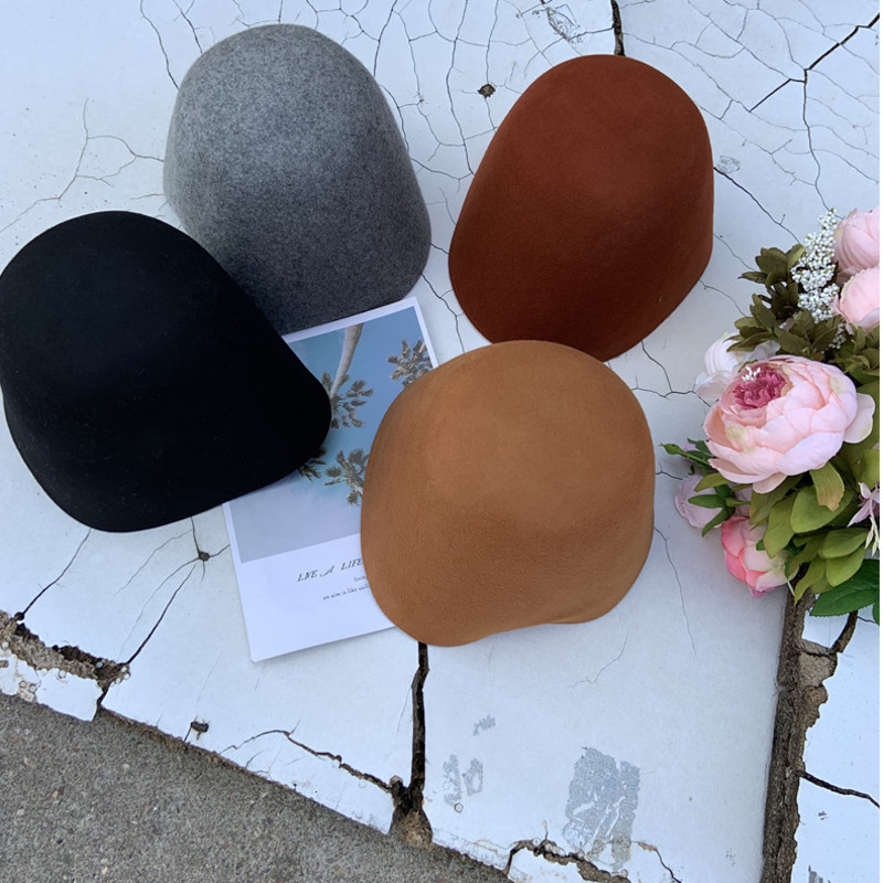 LANMREM 2019 autumn and winter new Fashion literary solid color simple knit hat cap female fisherman hat PB407