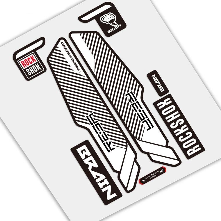 Rock Shox LYRIK 2018 Mountain Bike Cycling Decal Sticker Adhesive Red Gold