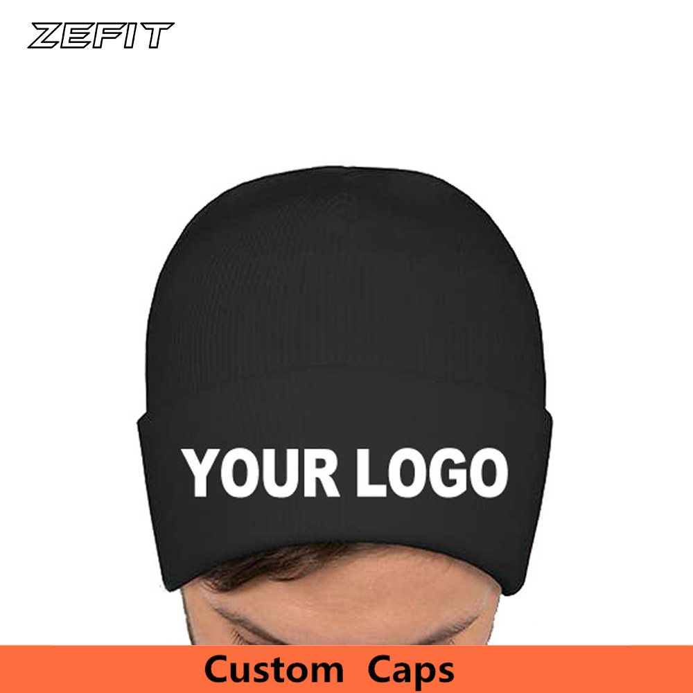 Low MOQ custom beanie cap Embroidery Logo Adult Knitted hat Warm Headwear High Quality Woven Label Winter Caps Custom Beanie Hat title=