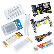 Breadboard Power-Module MB102 Jumpers Bread-65pcs-Jumper-Wires 140pcs with Box 830-Points