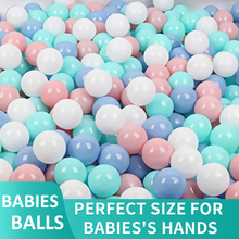 100pcs Baby Size Mix Color Plastic Pit Balls Safe Kids Pastel Multi Colorful Combination Mixed Play Ball Pack Pool Soft Toy Gift