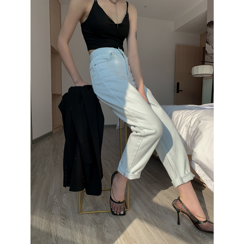 [DEAT] 2020 Fast Delivery New Spring Dress Pants For Women High Waist White Solid Vintage Elastic High Quality Loose Wild AP638