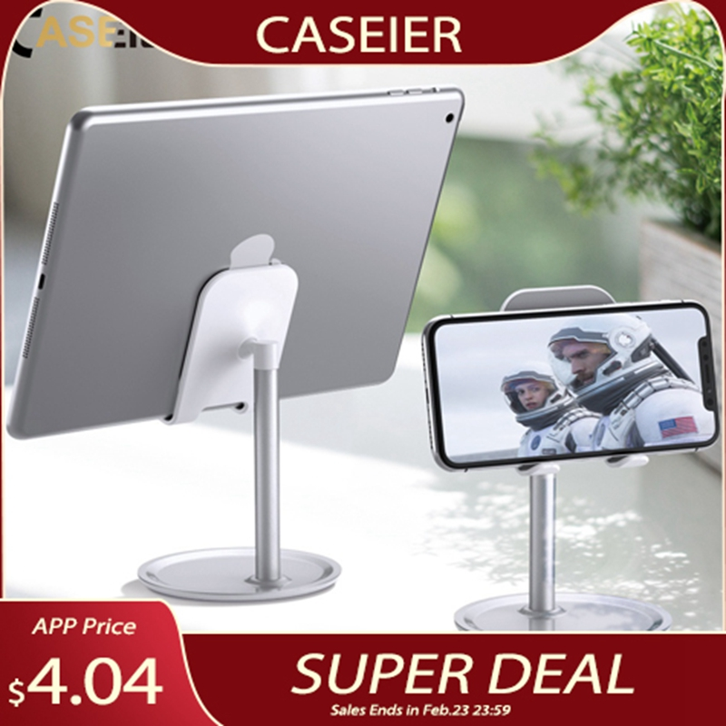 CASEIER Universal Tablet Phone Holder Desk For iPhone Desktop Tablet Stand For Cell Phone Table Holder Mobile Phone Stand Mount title=