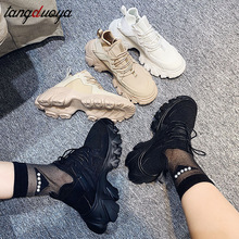 Gym-Shoes Platform-Sneakers Chunky Women Jogging Female