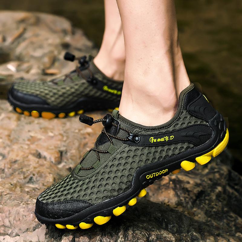 Aqua Shoes Ultra-light Quick-drying Beach Water River Walking 2019 Summer Men Mesh Breathable Flotillas Outdoor Hiking (26)