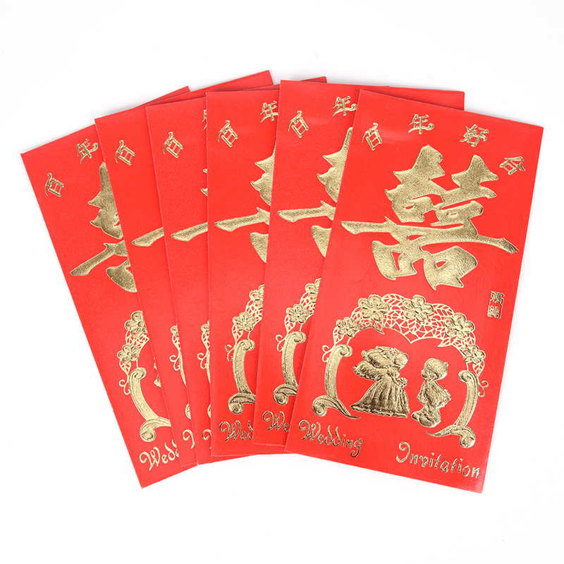 6pcs/set Great Gift Card Red Best Wish Chinese New Year