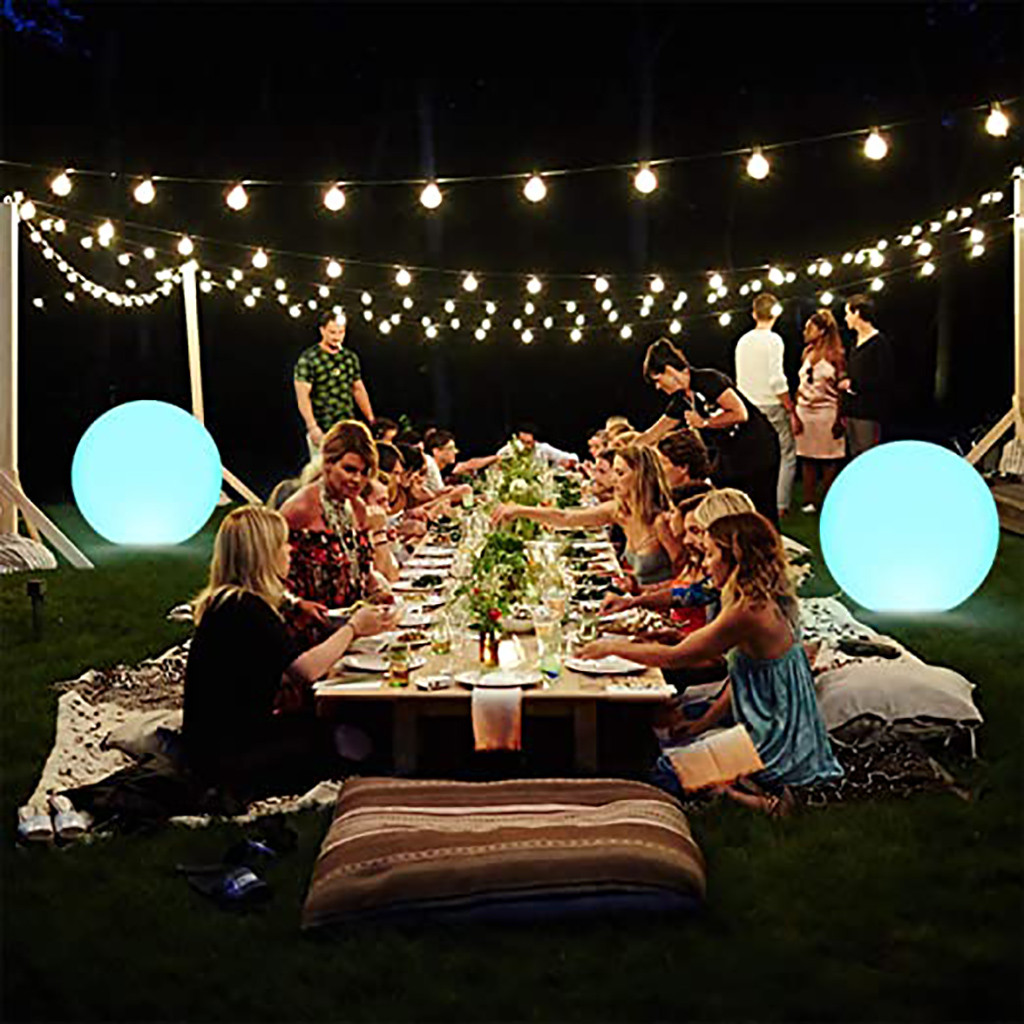 Meal - Rechargeable LED Swimming Pool Floating Ball Lamp Waterproof Outdoor Home Wedding Garden KTV Bar Holiday Party Decoration