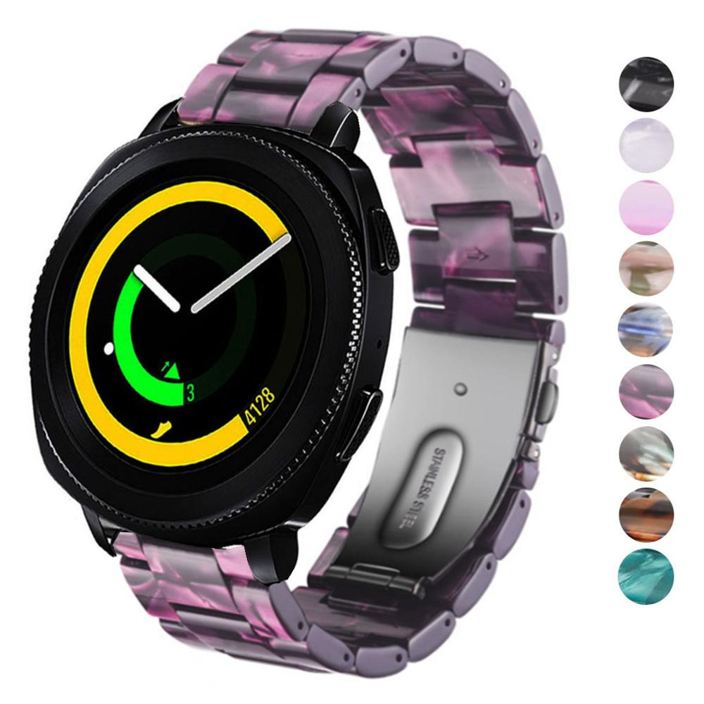Colorful-Resin-Band-for-Samsung-Gear-Sport-Galaxy-Watch-42mm-Active-Strap-20mm-Resin-Stainless-Steel