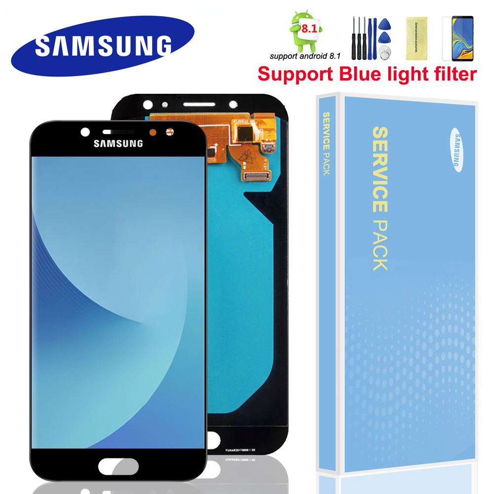 Super AMOLED LCDs For Samsung Galaxy J7 Pro 2017 J730 J730F LCD Display and Touch Screen Digitizer Assembly Brightness Control title=