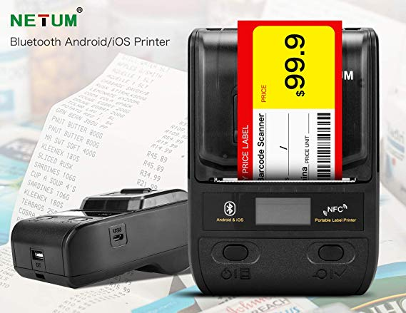NETUM Receipt Printer Mobile-Phone Bluetooth Small Mini Portable Android/ios 58mm  title=